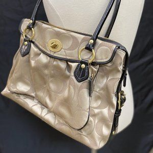 Coach Addison Business Bag Khaki and Brown